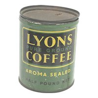 Advertising  Coffee Tin LYONS Pure Ground Coffee