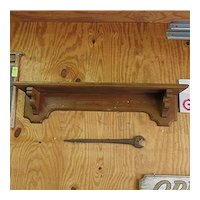 "Antiqiue Wall Shelf  Country American Grain Painted 42"" Long"