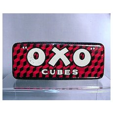 OXO Cubes Advertising Tin