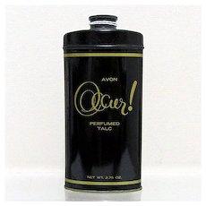 AVON Occur Talc Advertising Tin