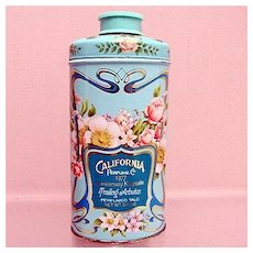 SOLD    Advertising Tin California Perfume Co. Perfumed Talc Tin 50% OFF