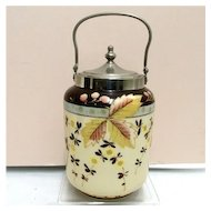 Bristol Glass Biscuit Jar