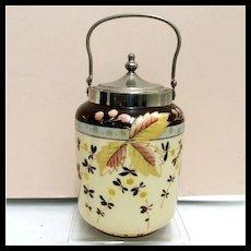 Bristol Glass Biscuit Jar