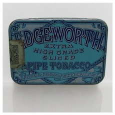 Edgeworth  Pipe Tobacco Flat Pocket Advertising Tin