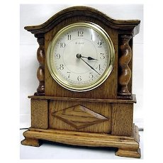 Antique Mantel Clock Jacobean French Made