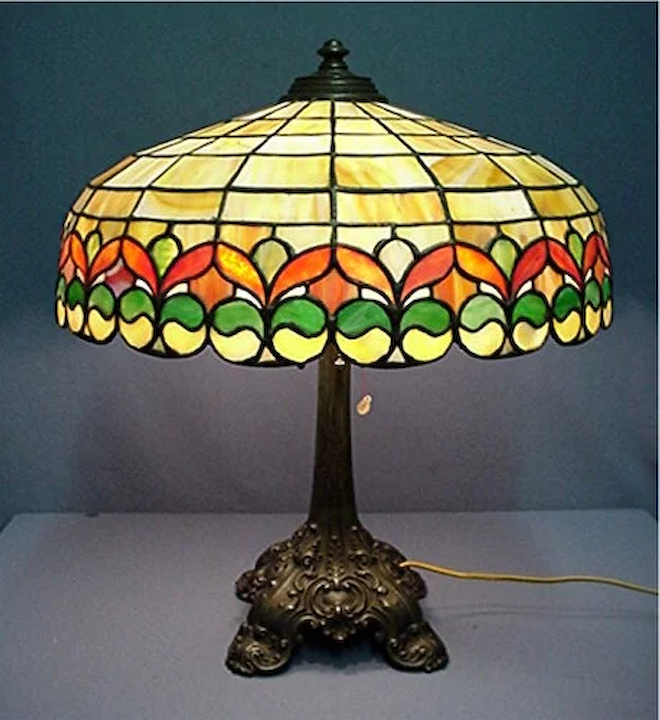Antique Stained Glass Lamps.Wilkinson Antique Leaded Glass Table Lamp