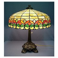 Wilkinson Antique Leaded Glass Table Lamp