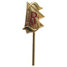 Stick Pin Gold Gilt Commemorative Club or Event Pin