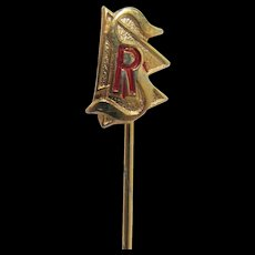 Stick Pin Gold Gilt Commemorative Club or Event Pin