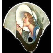 Advertising Fan Lithograph For Auto Products Kelly tires and Fleet Wing Gas & Oil