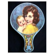 Advertising Fan Chromolithograph Advertising Grinnell Bros. Music House