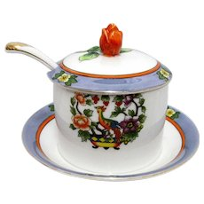Lusterware Japanese Jam or Jelly Dish Luster Ware Jar