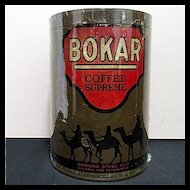 Advertising Coffee Tin Bokar