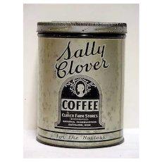 Advertising Coffee Tin For Sally Clover