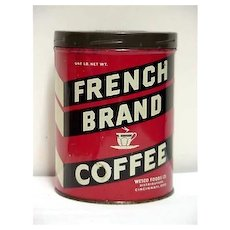SOLD   We 35+ other Coffee tins  to choose from Advertising Coffee Tin for French Brand