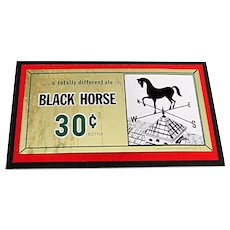 Black Horse Ale Brewery Beer Advertising Sign Lawrence Mass.  LAST ONE