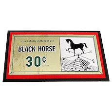 SOLD   See others for SALE   Advertising Sign Black Horse Ale Beer Brewery Lawrence, Mass.