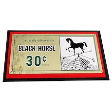 Beer Advertising Sign for Black Horse Ale Brewery Lawrence Mass.