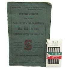 1917  Singer Sewing Machine No. 127 and 128 Original Instruction Manual
