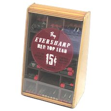 Advertising Eversharp Red Top Lead Counter Top Retail Display Case