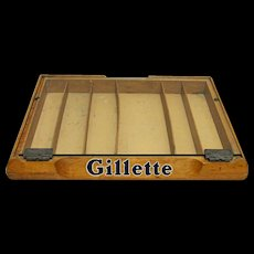 Gillette Razor Counter Top Retail Case