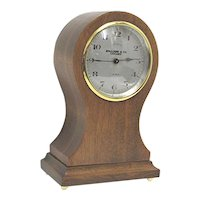 Antique Mantle Clock Swiss Made Balloon Mantel  Clock Retailed by Spaulding of Chicago