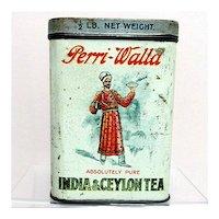 Perri Walla Indian Ceylon Advertising Tea Tin