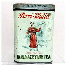 Perri Walla Indian Ceylon Advertising Tea Tin