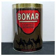 SOLD     See other BOKAR and Advertising Coffee Tins we  have for sale