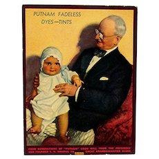 Original Advertising Fan For Putnam Dyes