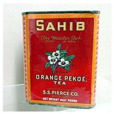 SOLD   Advertising Tea Tin S. S. Pierce Tea One Pound