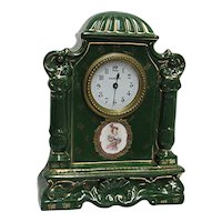 Mantel Clock Austrian Porcelain Mantle Clock Signed