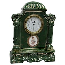Austrian Porcelain Clock Signed