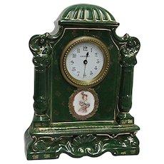 Austrian Porcelain Clock Signed