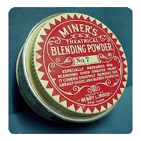 Theatrical Powder Makeup Advertising Tin by Henry Miner