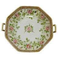 Nippon Serving Bowl Hand Painted Porcelain