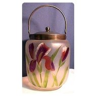 Biscuit Jar or Barrel Victorian American Glass