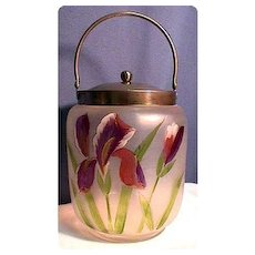 Biscuit Jar or Barrel Victorian American Glass
