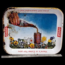 Coca Cola Metal Advertising Tray 1961