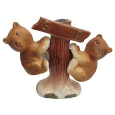Hanging Bears Salt and Pepper Shakers Set
