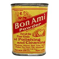 Bon Ami Powder Sample Advertising Tin Unopened