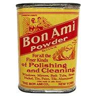 Bon Ami Powder Sample Advertising Tin
