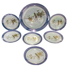 Noritake Lusterware Porcelain Cake Set Service for 6
