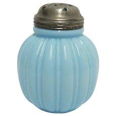 SOLD  FEB. 2020  Sugar Shaker Consolidated Lamp and Glass Co. American Antique Glass Melligo Pattern Circa 1895  FEB. SALE ITEM