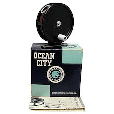 Fly Fishing Reel in Original Box Made By Ocean City Number 35