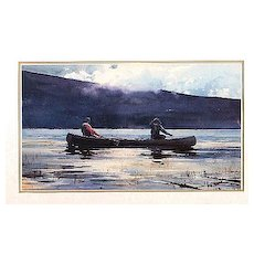Fly Fishing Print  Framed Lithograph
