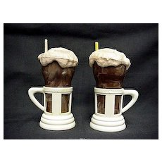 Salt and Pepper Set Milk Shakes with Straw