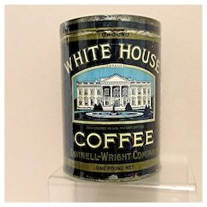 White House Coffee Advertising Tin One Pound Size