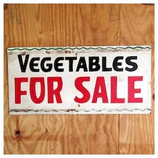 SOLD   Vegetables For Sale Advertising Sign 50% OFF