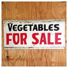 Vegetables For Sale Advertising Sign 50% OFF